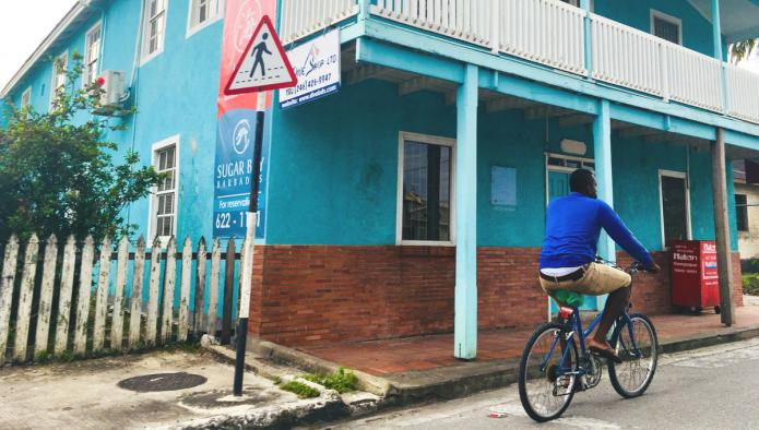 Barbados - Blue On Bike